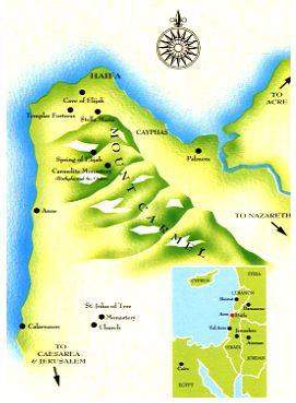 Cartina Monte Carmelo