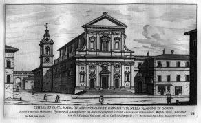 Litografia della facciata di Traspontina