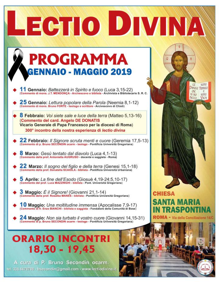 PROGRAMMA GENNAIO – MAGGIO 2019